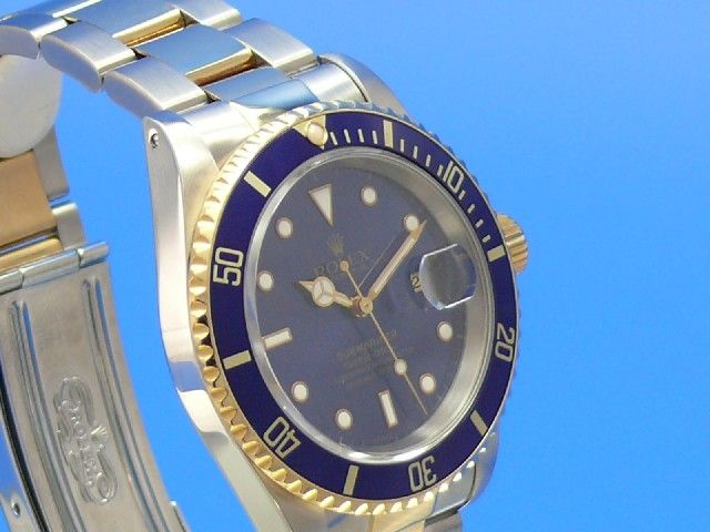 rolex submariner date stahl gold 16613 16613. Black Bedroom Furniture Sets. Home Design Ideas