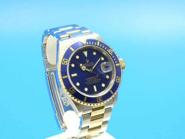 rolex submariner stahl gold blau piranhas. Black Bedroom Furniture Sets. Home Design Ideas