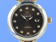Omega De Ville Ladymatic Stahl/Rotgold